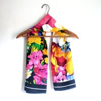 """vintage 100% Silk square """"Casca for Magid"""" large floral womans ladies wrap / scarf  made in Korea #64135"""