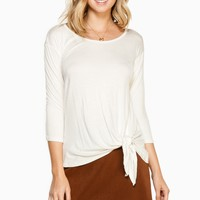 ShopSosie Style : Kay Jersey Top in Ivory