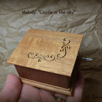 music box, musical box, Castle in the sky music box, music box songs, wooden music box, music box songs, simplycoolgifts