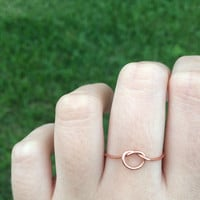Knot ring, love knot ring, promise ring, knot ring rose gold, knot promise ring, knot ring gold silver ring bridesmaid ring, bridesmaid gift