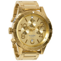 Nixon The 48-20 Chrono Watch All Gold One Size For Men 22195062101