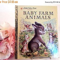 Baby Farm Animals Little Golden Book Picture Story for Children Preschool Toddler Gift Book FREE SHIPPING