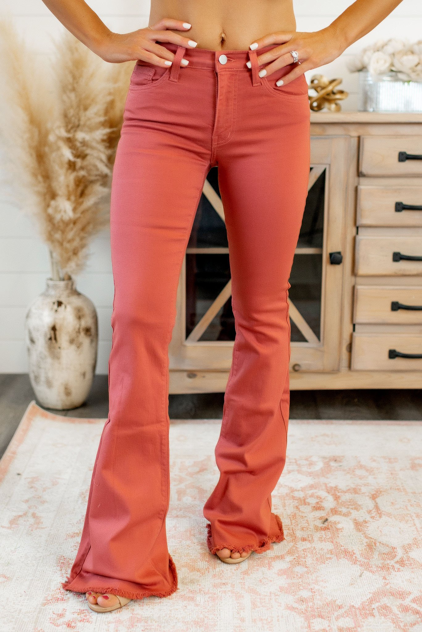 Image of Molly Mauve Flares-FINAL SALE
