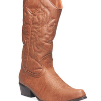 Wild West Embroidered Cowboy Boots | Wet Seal