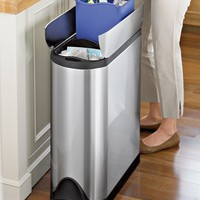 simplehuman™ Fingerprint-Proof Butterfly Trash/Recycler