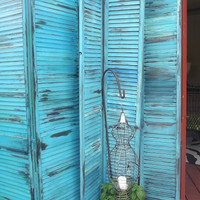 Room Divider, Shutters, Screen,  weathered, distressed,all colors,Interior, Exterior  decor Accent,