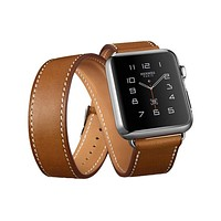 3 Models Genuine Leather wrist bracelet watchband for hermes apple watch band 38mm 42mm watch strap Cuff Single Double Tour