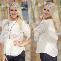Rules Of Life Top (Cream) - Piace Boutique