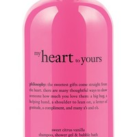 philosophy 'my heart to yours' shampoo, shower gel & bubble bath (Limited Edition) | Nordstrom