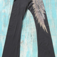 tattoo yoga pants with angel wings   Elusive Cowgirl