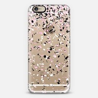 Light Pink Black and White Confetti Explosion iPhone 6 case by Organic Saturation | Casetify