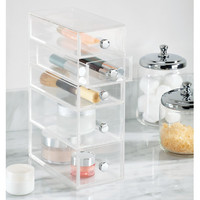 5 Drawer Organizer Tower Vanity Clear Acrylic Cabinet to Hold Makeup Beauty Products