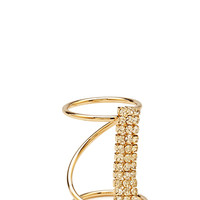 FOREVER 21 Twisted Rhinestone Cocktail Ring
