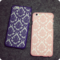 Cute Royal Floral Lace Case for iPhone