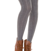 Anya Thigh High Socks - Grey