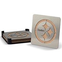 Pittsburgh Steelers 4-piece Stainless Steel Boaster Drink Coaster