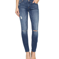 7 For All Mankind The Ankle Skinny w/ Destroy in Barrier Reef Broken Twill Barrier Reef Broken Twill - Zappos.com Free Shipping BOTH Ways