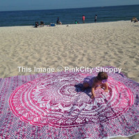 Hippie Hippy Wall Hanging Indian Mandala Tapestry Throw Bedspread, Dorm Tapestry, Wall Tapestry, Picnic Beach Sheet, Decorative Wall Hanging