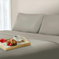 Lavish Home 1000 Thread Count Cotton Sateen Sheet Set - Queen Platinum
