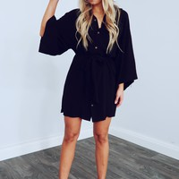 Anything Goes Dress: Black
