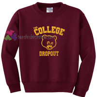 The College Dropout Sweater gift sweatshirt unisex adult custom clothing