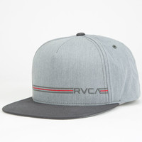 Rvca Crusher Twill Mens Snapback Hat Grey One Size For Men 26056011501