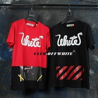 spbest OFF WHITE PATCHWORK TEE
