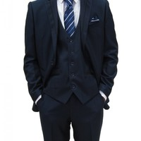 Mens Blue Three Piece Slim fit Suit ideal for weddings(Jack)