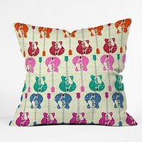 Sharon Turner Candy Rock Outdoor Throw Pillow