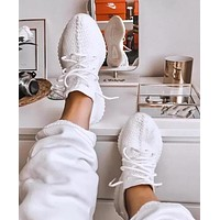 Adidas Yeezy Boost 350 V2 Pure White Fashion Women Men Casual Running Sports Shoes Sneakers