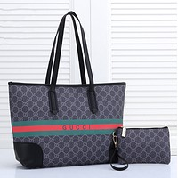GUCCI Women Leather Handbag Tote Shoulder Bag Purse