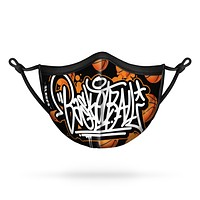 Basketball Graffiti Kids Face Mask With Nose Shape