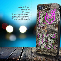 Love Browning Deer Camo for iphone 5/5s,iphone 4/4s, samsung galaxy s2 I9100,s3 I9300,s4 I9500