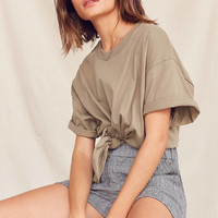 Urban Renewal Recycled Tie-Front Tee | Urban Outfitters