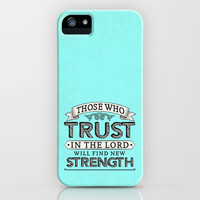 Isaiah 40:3 Trust & Strength iPhone & iPod Case by Pocket Fuel