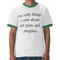 puns and puppies t-shirt from Zazzle.com