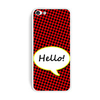 Hello Comic Talk Bubble iPhone 5C Skin