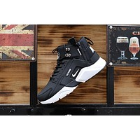 Huarache X Acronym City Mid Leather Black/white Sneaker Shoes | Best Deal Online