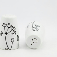 Queen Anne's Lace Hand Painted Decorative by SylwiaGlassArt