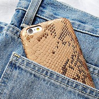 Understated Leather x Free People Womens Embossed Snake Leather iPhone Case