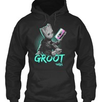 Guardians Baby Groot Neon Tape Graphic