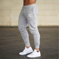Casual  Sweatpants Jogger Elastic cotton GYMS Fitness Workout