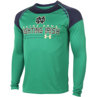 Notre Dame Fighting Irish Under Armour Perpetual Long Sleeve T-Shirt - Kelly Green/Navy Blue