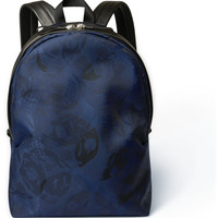 Alexander McQueen - Skull Jacquard And Leather Backpack | MR PORTER