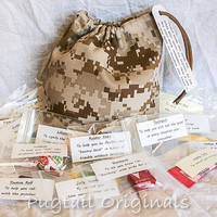Military Deployment Survival Kit/Bag - Morale Booster - Desert Digicam Camo - Army, Navy, Air Force, Marines, Coast Guard