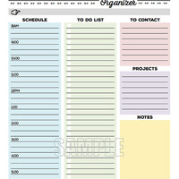 The Office Organizer - planner page, work planner, office planner, to do, planner, checklist, daily, weekly - EDITABLE