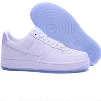 Tagre™ NIKE Women Men Running Sport Casual Shoes Sneakers Air force White laser