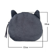 Grey Angry Cat Coin Purse