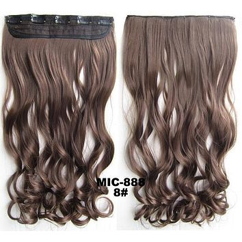 Bath & Beauty 5 Clip in synthetic hair extension hairpieces wavy slice curly hairpiece MIC-888 8#,Hair Care,fashion Cosplay ombre 1PC