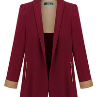 Long Sleeve Collared Blazer